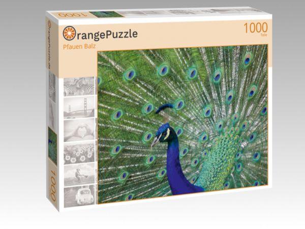 """Puzzle Motiv """"Pfauen Balz"""" - Puzzle-Schachtel zu 1000 Teile Puzzle"""