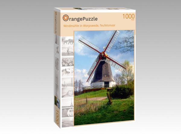 "Puzzle Motiv ""Windmühle in Worpswede, Teufelsmoor"" - Puzzle-Schachtel zu 1000 Teile Puzzle"