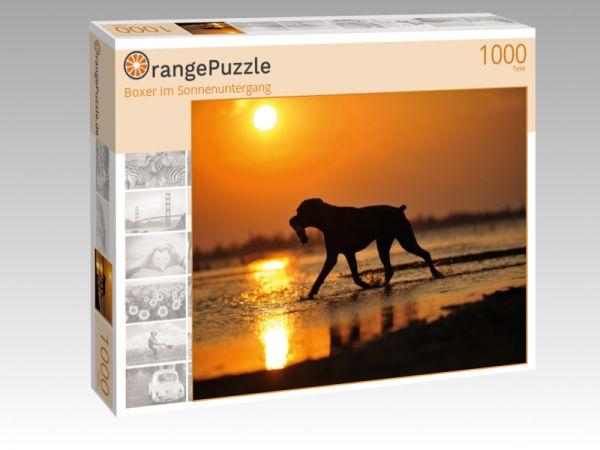 """Puzzle Motiv """"Boxer im Sonnenuntergang"""" - Puzzle-Schachtel zu 1000 Teile Puzzle"""