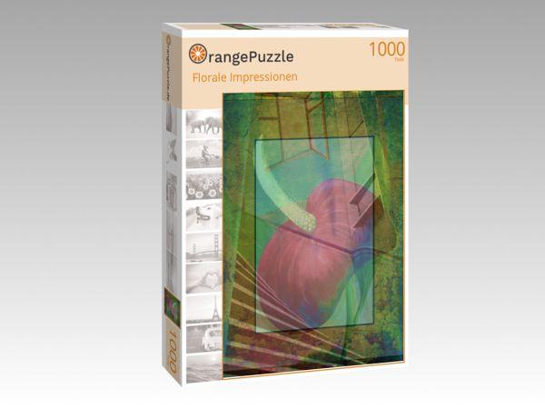 """Puzzle Motiv """"Florale Impressionen"""" - Puzzle-Schachtel zu 1000 Teile Puzzle"""