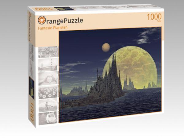 """Puzzle Motiv """"Fantasie-Planeten"""" - Puzzle-Schachtel zu 1000 Teile Puzzle"""