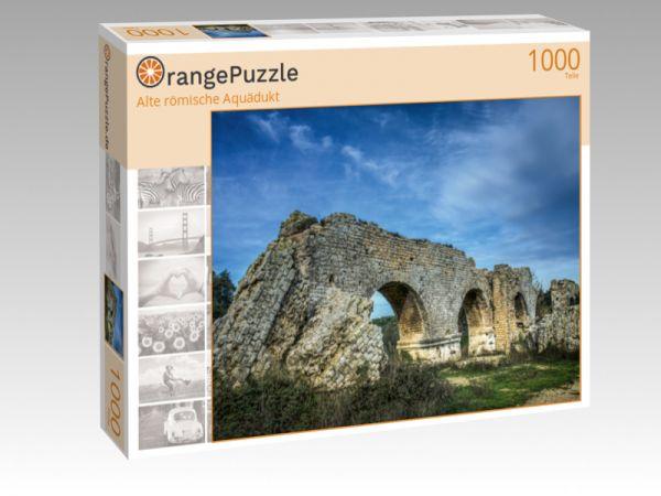 """Puzzle Motiv """"Alte römische Aquädukt"""" - Puzzle-Schachtel zu 1000 Teile Puzzle"""
