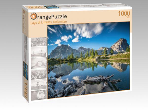 """Puzzle Motiv """"Lago di Limides, Dolomiten"""" - Puzzle-Schachtel zu 1000 Teile Puzzle"""