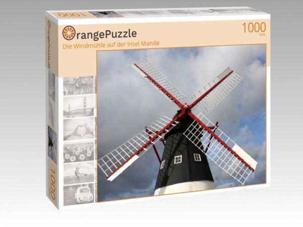 """Puzzle Motiv """"Die Windmühle auf der Insel Mandø"""" - Puzzle-Schachtel zu 1000 Teile Puzzle"""