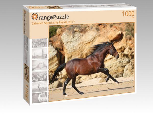 "Puzzle Motiv ""Caballos Spanische Pferde 2017"" - Puzzle-Schachtel zu 1000 Teile Puzzle"