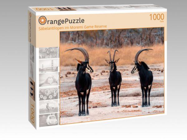 """Puzzle Motiv """"Säbelantilopen im Moremi Game Reserve"""" - Puzzle-Schachtel zu 1000 Teile Puzzle"""