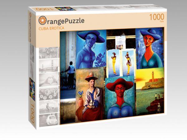 """Puzzle Motiv """"CUBA EROTICA"""" - Puzzle-Schachtel zu 1000 Teile Puzzle"""