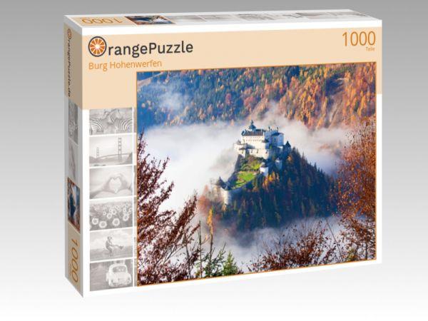 """Puzzle Motiv """"Burg Hohenwerfen"""" - Puzzle-Schachtel zu 1000 Teile Puzzle"""