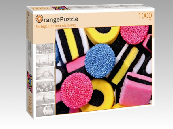 """Puzzle Motiv """"Farbige Bonbonmischung"""" - Puzzle-Schachtel zu 1000 Teile Puzzle"""