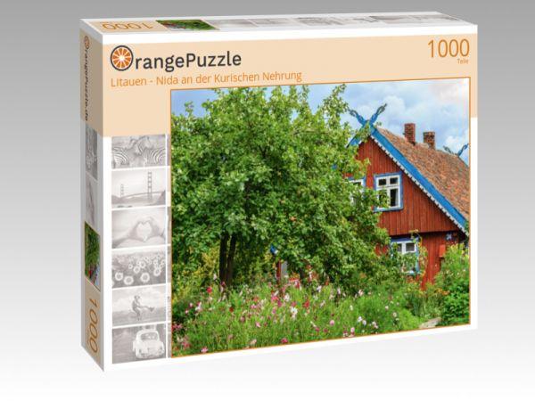"""Puzzle Motiv """"Litauen - Nida an der Kurischen Nehrung"""" - Puzzle-Schachtel zu 1000 Teile Puzzle"""