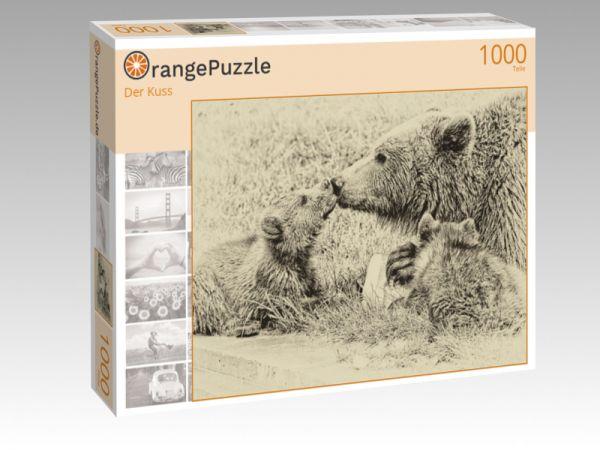 "Puzzle Motiv ""Der Kuss"" - Puzzle-Schachtel zu 1000 Teile Puzzle"