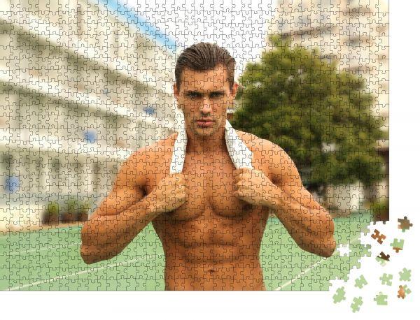 """Puzzle-Motiv """"Guy Mann Modell Männlich"""" - Puzzle-Schachtel zu 1000 Teile Puzzle"""