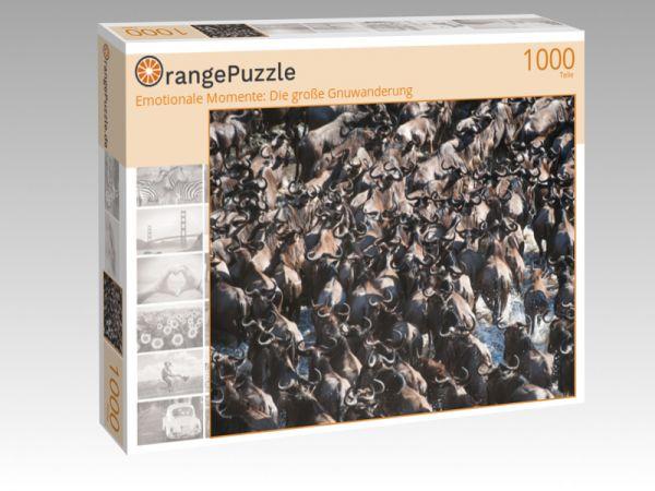 """Puzzle Motiv """"Emotionale Momente: Die große Gnuwanderung"""" - Puzzle-Schachtel zu 1000 Teile Puzzle"""