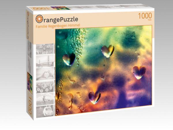 """Puzzle Motiv """"Familie Regenbogen Himmel"""" - Puzzle-Schachtel zu 1000 Teile Puzzle"""