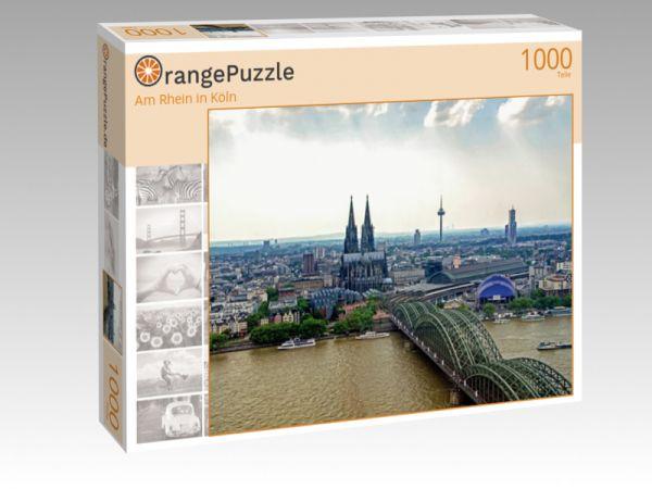 """Puzzle Motiv """"Am Rhein in Köln"""" - Puzzle-Schachtel zu 1000 Teile Puzzle"""