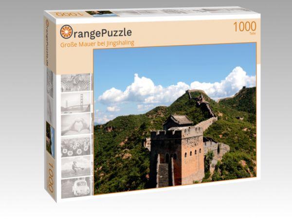 """Puzzle Motiv """"Große Mauer bei Jingshaling"""" - Puzzle-Schachtel zu 1000 Teile Puzzle"""