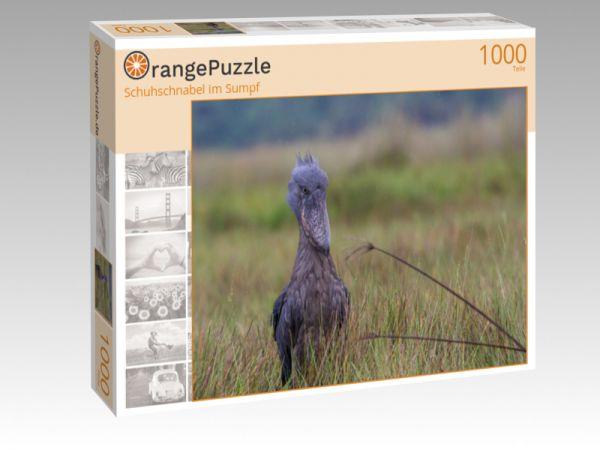 "Puzzle Motiv ""Schuhschnabel im Sumpf"" - Puzzle-Schachtel zu 1000 Teile Puzzle"
