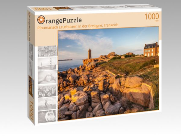 """Puzzle Motiv """"Ploumanach Leuchtturm in der Bretagne, Frankeich"""" - Puzzle-Schachtel zu 1000 Teile Puzzle"""