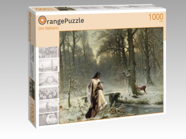 "Puzzle Motiv ""Die Näherin"" - Puzzle-Schachtel zu 1000 Teile Puzzle"