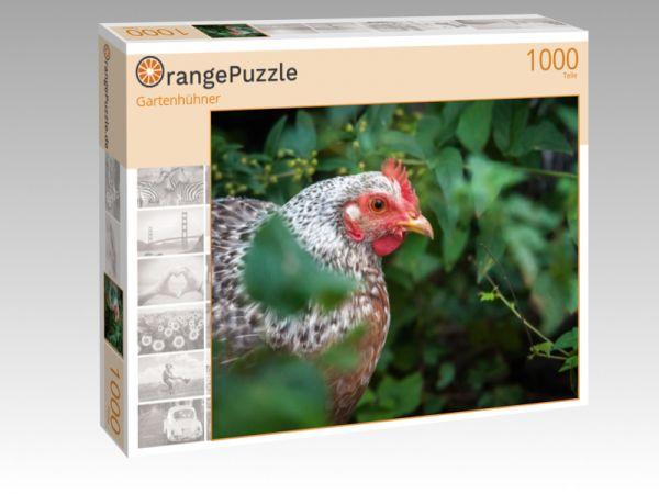 "Puzzle Motiv ""Gartenhühner"" - Puzzle-Schachtel zu 1000 Teile Puzzle"