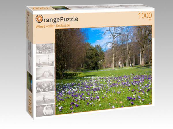 "Puzzle Motiv ""Wiese voller Krokusse"" - Puzzle-Schachtel zu 1000 Teile Puzzle"