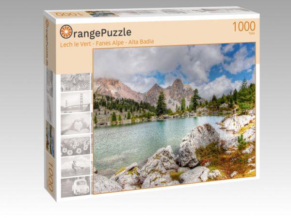 """Puzzle Motiv """"Lech le Vert - Fanes Alpe - Alta Badia"""" - Puzzle-Schachtel zu 1000 Teile Puzzle"""