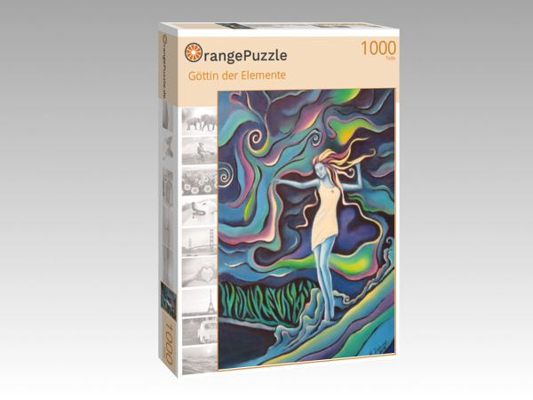 "Puzzle Motiv ""Göttin der Elemente"" - Puzzle-Schachtel zu 1000 Teile Puzzle"