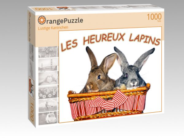 "Puzzle Motiv ""Lustige Kaninchen"" - Puzzle-Schachtel zu 1000 Teile Puzzle"