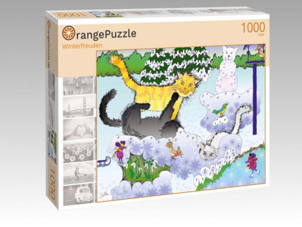 """Puzzle Motiv """"Winterfreuden"""" - Puzzle-Schachtel zu 1000 Teile Puzzle"""