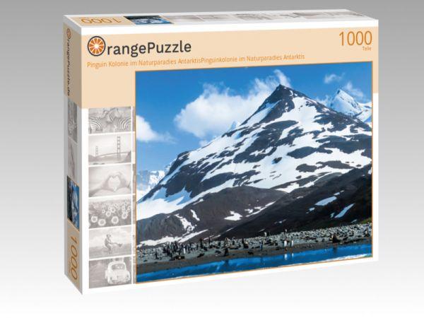 """Puzzle Motiv """"Pinguin Kolonie im Naturparadies AntarktisPinguinkolonie im Naturparadies Antarktis"""" - Puzzle-Schachtel zu 1000 Teile Puzzle"""