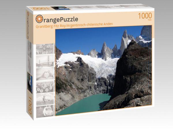 """Puzzle Motiv """"Granitberg Fitz Roy/Argentinisch-chilenische Anden"""" - Puzzle-Schachtel zu 1000 Teile Puzzle"""