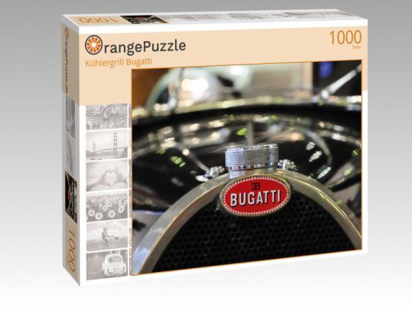 "Puzzle Motiv ""Kühlergrill Bugatti"" - Puzzle-Schachtel zu 1000 Teile Puzzle"