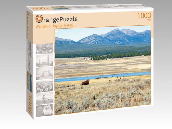 """Puzzle Motiv """"Wandbild Hayden Valley"""" - Puzzle-Schachtel zu 1000 Teile Puzzle"""