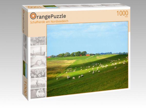 """Puzzle Motiv """"Schafherde am Nordseedeich"""" - Puzzle-Schachtel zu 1000 Teile Puzzle"""
