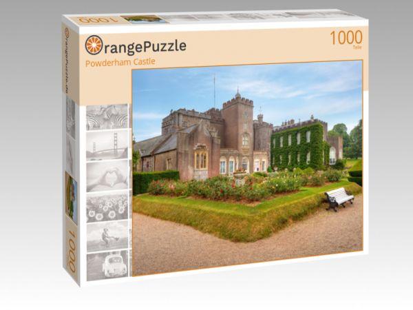 """Puzzle Motiv """"Powderham Castle"""" - Puzzle-Schachtel zu 1000 Teile Puzzle"""