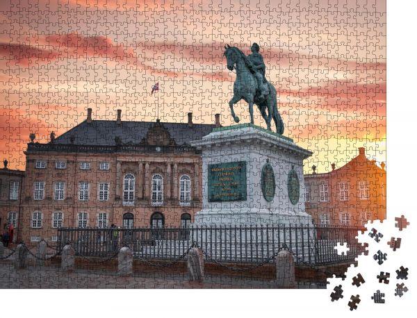 """Puzzle-Motiv """"Das Königliche Amalienborg-Palais in Kopenhagen. Dänemark"""" - Puzzle-Schachtel zu 1000 Teile Puzzle"""