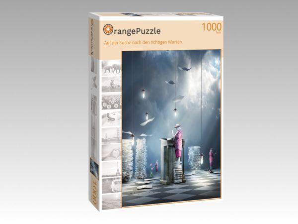 """Puzzle Motiv """"Auf der Suche nach den richtigen Worten"""" - Puzzle-Schachtel zu 1000 Teile Puzzle"""