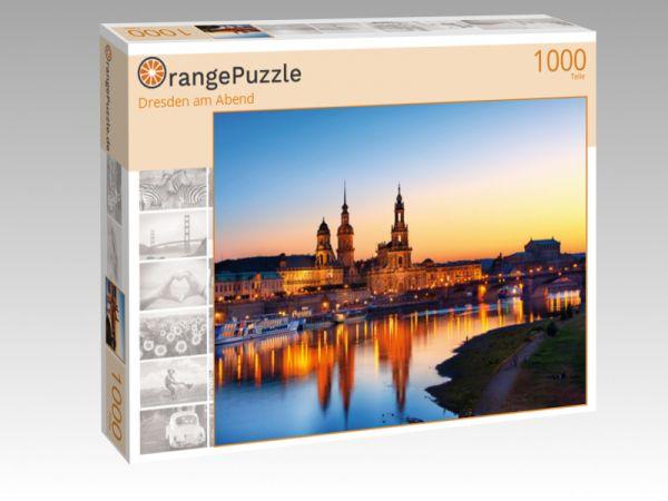 """Puzzle Motiv """"Dresden am Abend"""" - Puzzle-Schachtel zu 1000 Teile Puzzle"""