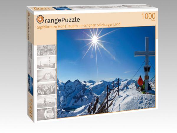 """Puzzle Motiv """"Gipfelkreuze Hohe Tauern im schönen Salzburger Land"""" - Puzzle-Schachtel zu 1000 Teile Puzzle"""