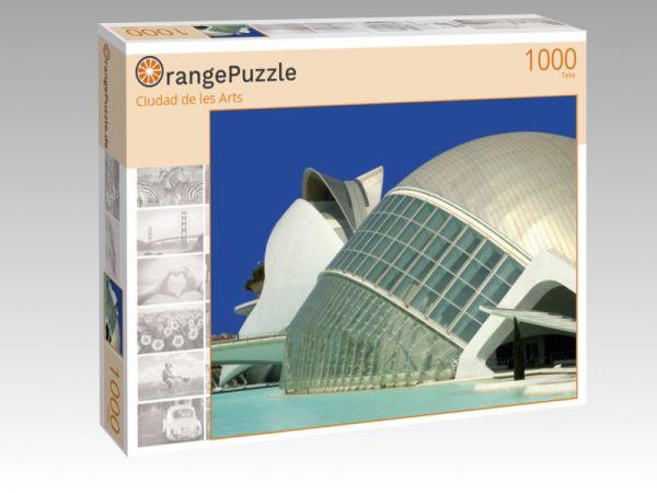 """Puzzle Motiv """"Ciudad de les Arts"""" - Puzzle-Schachtel zu 1000 Teile Puzzle"""