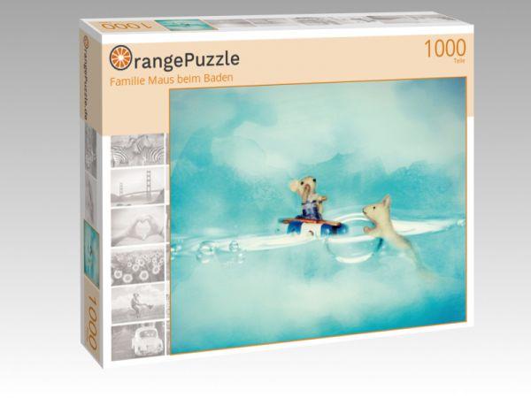 "Puzzle Motiv ""Familie Maus beim Baden"" - Puzzle-Schachtel zu 1000 Teile Puzzle"