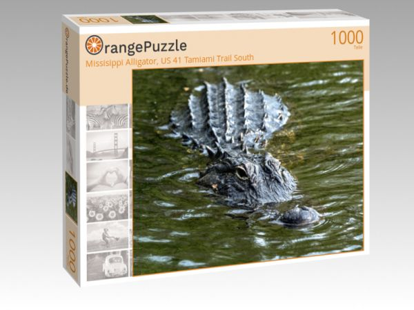 "Puzzle Motiv ""Missisippi Alligator, US 41 Tamiami Trail South"" - Puzzle-Schachtel zu 1000 Teile Puzzle"