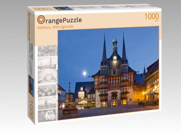 """Puzzle Motiv """"Rathaus, Wernigerode"""" - Puzzle-Schachtel zu 1000 Teile Puzzle"""