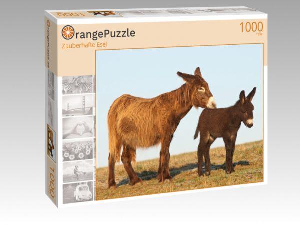 """Puzzle Motiv """"Zauberhafte Esel"""" - Puzzle-Schachtel zu 1000 Teile Puzzle"""