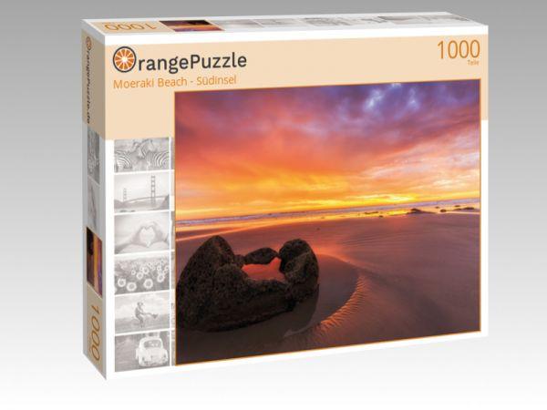 """Puzzle Motiv """"Moeraki Beach - Südinsel"""" - Puzzle-Schachtel zu 1000 Teile Puzzle"""