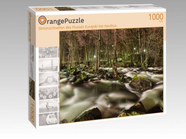 """Puzzle Motiv """"Stromschnellen des Flusses Eurajoki bei Kauttua"""" - Puzzle-Schachtel zu 1000 Teile Puzzle"""