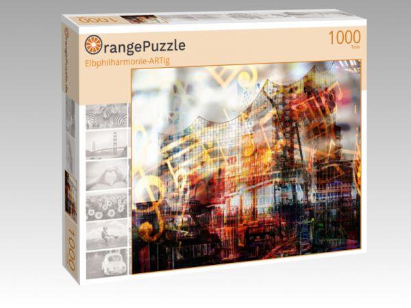 """Puzzle Motiv """"Elbphilharmonie-ARTig"""" - Puzzle-Schachtel zu 1000 Teile Puzzle"""