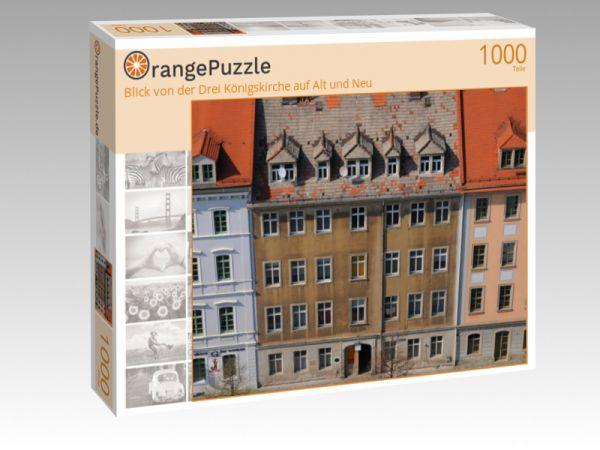 """Puzzle Motiv """"Blick von der Drei Königskirche auf Alt und Neu"""" - Puzzle-Schachtel zu 1000 Teile Puzzle"""