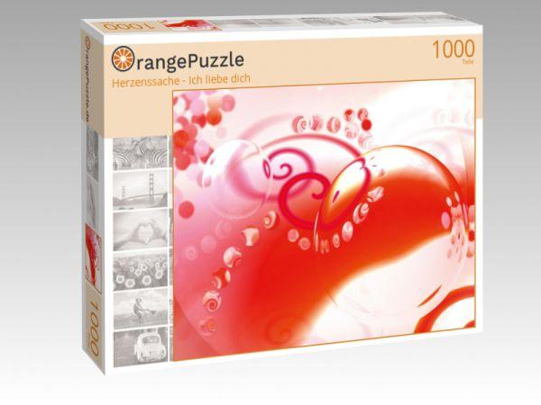 """Puzzle Motiv """"Herzenssache - Ich liebe dich"""" - Puzzle-Schachtel zu 1000 Teile Puzzle"""