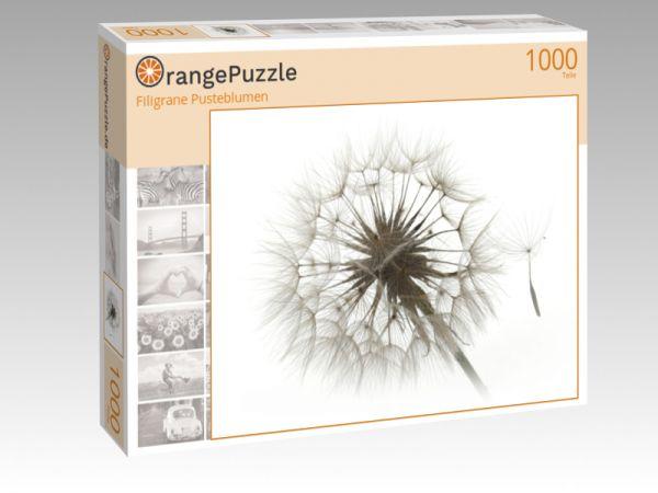 "Puzzle Motiv ""Filigrane Pusteblumen"" - Puzzle-Schachtel zu 1000 Teile Puzzle"